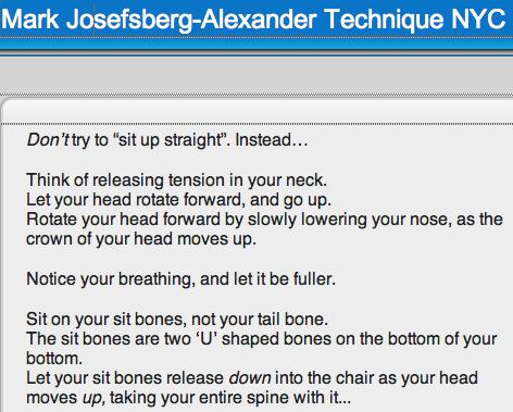 Alexander Technique Tips